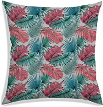 RADANYA Polyester Tropical Leaf Pattern Throw Pillow Covers Decorative Pillowcase 60x60 cm-Insert not Included