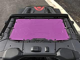 ALIEN SUNSHADE Jeep Wrangler JL Front Sunshade Mesh Top for 2018+ Jeep Wrangler 2- door or 4-door JL and JLU Unlimited (Pink)