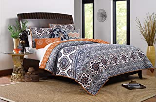 Greenland Home Medina Bedding Set, 5-Piece King/Cal King, Saffron (Renewed)