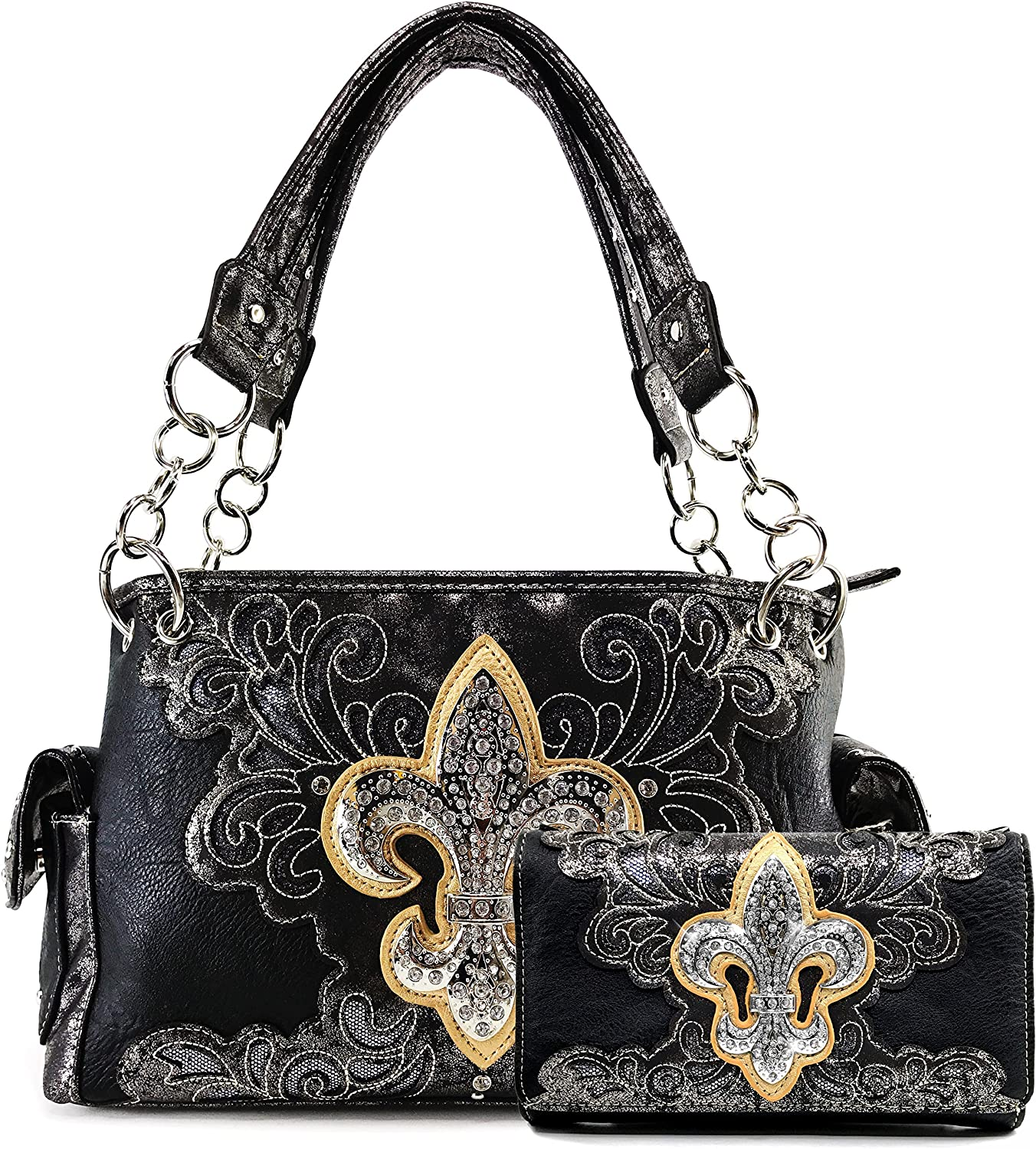 Justin West Western Fleur De Don't miss the campaign Lis Cut Recommended Co Glitter Rhinestone Laser