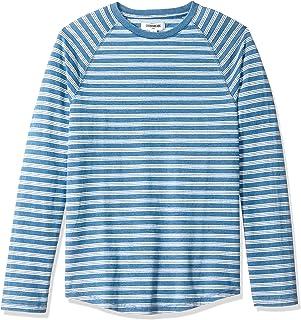 Amazon Brand - Goodthreads Men`s Long-Sleeve Indigo Raglan T-Shirt