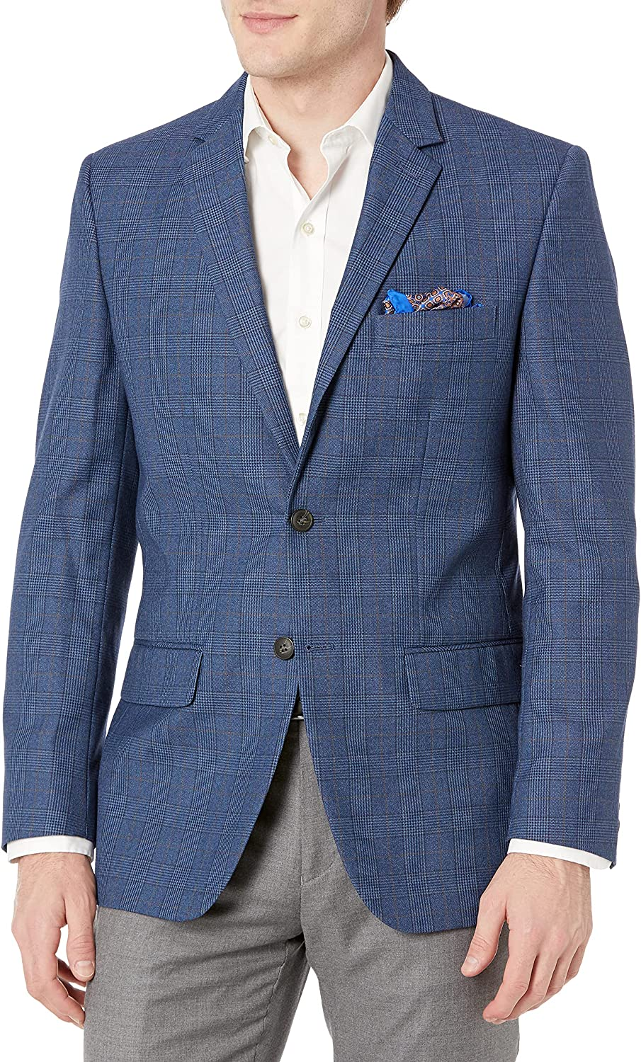 Haggar Opening large release sale mens Glen Plaid Tailored Fit Vent Sport Center Sales for sale Coat
