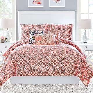 Vera Bradley Cuban Tiles Comforter, Full Queen, Coral