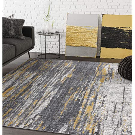Nuloom Ana Ombre Shag Rug 5 X 8 Yellow Furniture Decor