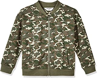 Kid Nation Kids French Terry Camouflage Baseball Coat Zip-up Jacket with Pockets for Boys or Girls