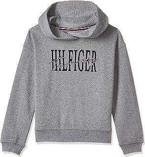 Tommy Hilfiger Girl's Essential Signature Zip Hoodie, Grey, 80 EU