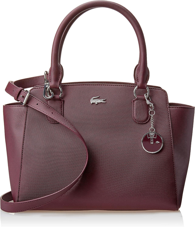 Amazon.com: Lacoste Women's Top Handle Satchel Bag, grape wine: Shoes