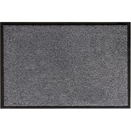 Maschinenwaschbare Weiche Fu/ßmatte T/ürmatte Teppiche Vordert/ür Eingangsteppich f/ür Eingangsbereich Wohnzimmer Grau Color/&Geometry rutschfeste Schmutzfangmatte 50x80 cm Flur Innen Au/ßen