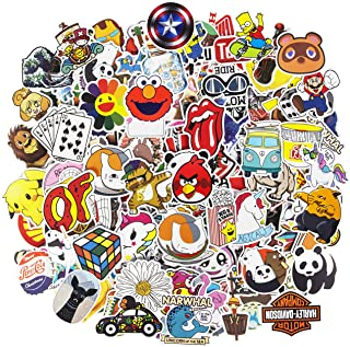 Cool Brand Stickers, 200pcs Mixed Waterproof Vinyl Stickers for Water Bottles Laptop Stickers Cars Motorbikes Bicycle Skat...