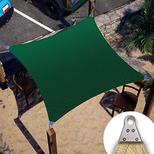high quality ColourTree Super Ring Customized Size outlet sale Order to Make Custom Size 27' x 28' Green Sun Shade Sail CTAWS12 Canopy Awning 2021 Shades for Patio-Commercial Standard Heavy Duty-260 GSM online