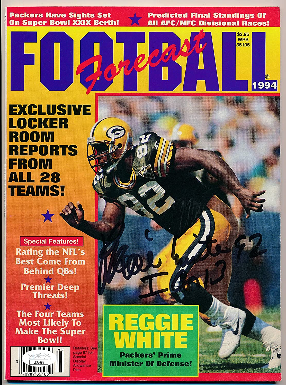Now free shipping Reggie White HOF Packers Signed 1994 Auto Oklahoma City Mall Forecast Maga Football