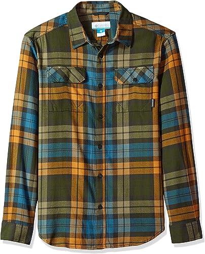 Columbia Men's Flare Gun Flannel III Long Sleeve Shirt, Canyon or Blanket Plaid, Small