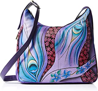 Anna by Anuschka womens Anna By Anuschka Hand Painted Leather Women's Large Hobo Bag