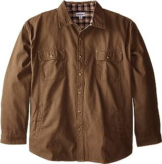 Men's Big & Tall Weathered Canvas Shirt Jacket Snap Front