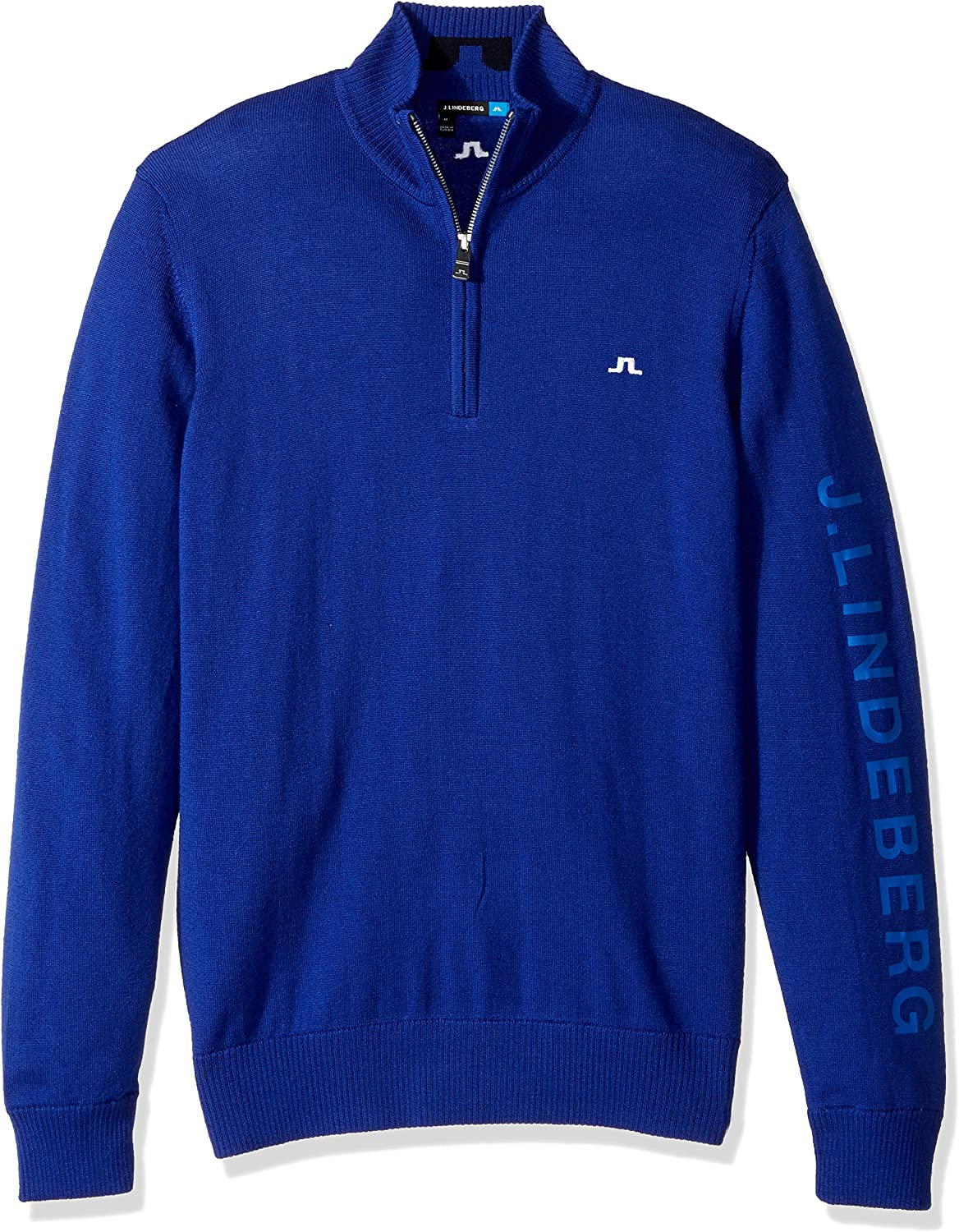 J.Lindeberg Mens 76MG122220408 Tour Merino Sweater Sweatshirt  blueee