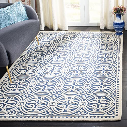 Blue Pattern Rug Amazon Com