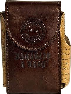 Artiglieria Fiorentina Bagaglio a Mano Antica Cartolina Porta Pacchetto Sigarette Vera Pelle - Made in Italy (vacchetta-ma...