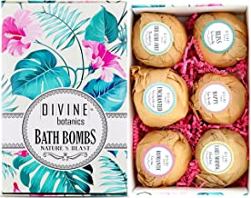 6 XL USA Made Essential Oils Lush Bath Bombs Kit - Organic Coconut oil and Shea Butter - Mothers Day Gifts For Women - Bath Fizzies - Best Gift Ideas and Gift Sets - Use with Bath Bubbles Bath Beads