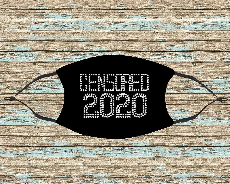 Censored New life 2020 Rhinestone Mask Spring new work Face