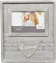 Pinnacle Frames and Accents 4X6 Distressed Love Script Frame, Brown