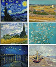 Tallenge - Vincent Van Gogh - Set of 6 Fridge Magnets for Home Decor (Size - 4 inches x 6 inches Each)