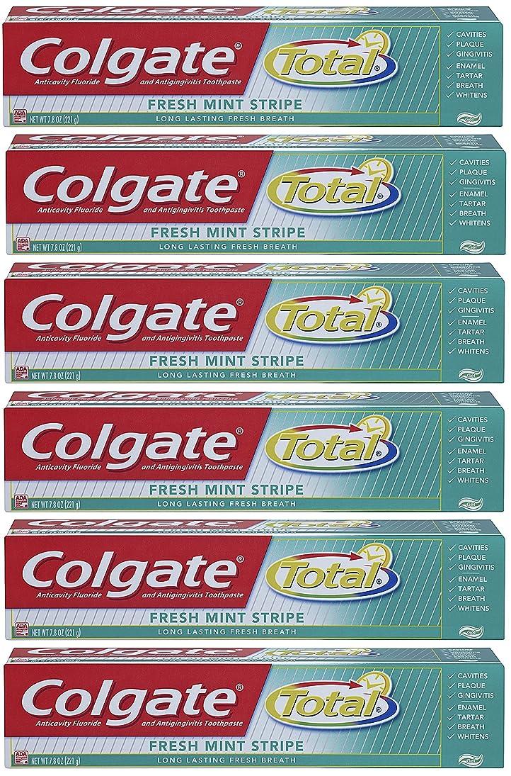 浴室職人正しいColgate 総フレッシュミントストライプジェルハミガキ - 7.8オンス(6パック) 6オンス(6パック) フレッシュミント