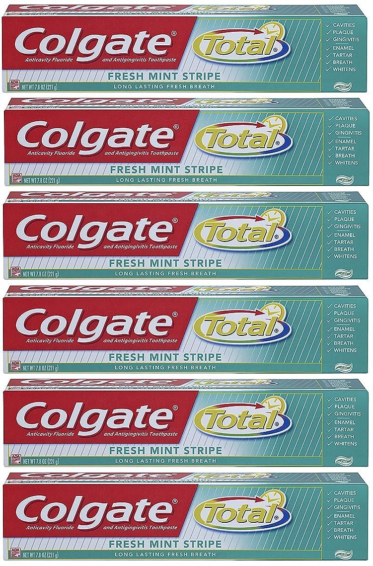 Colgate 総フレッシュミントストライプジェルハミガキ - 7.8オンス(6パック) 6オンス(6パック) フレッシュミント