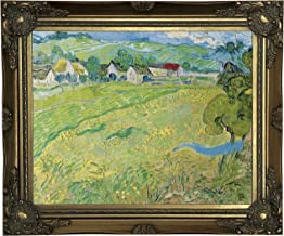 Historic Art Gallery View of Vessenots Near Auvers 1890 by Vincent Van Gogh Framed Canvas Print, Size 11x14, Gold