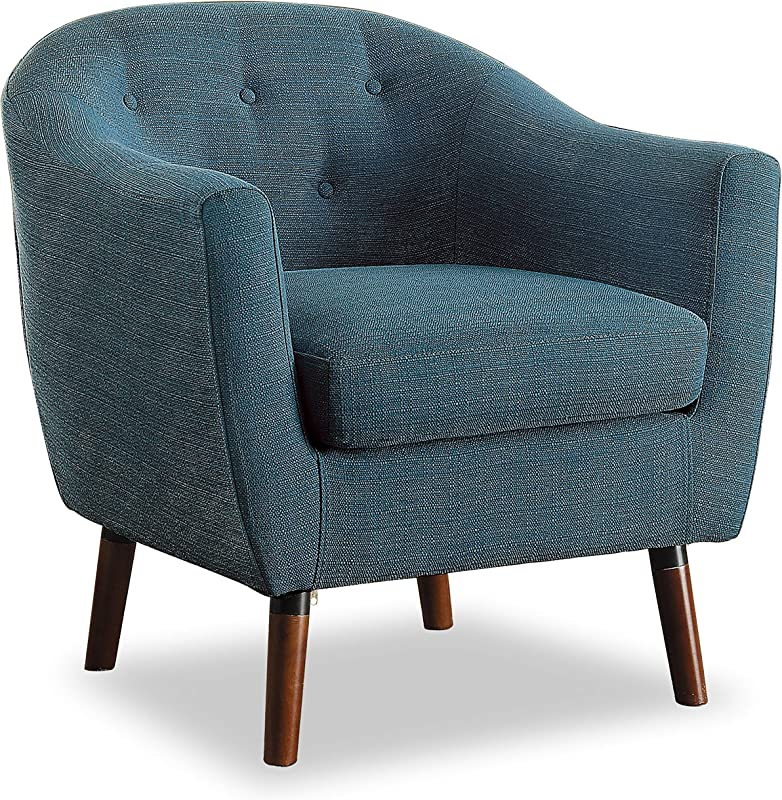 Homelegance Lucille Fabric Barrel Chair Blue