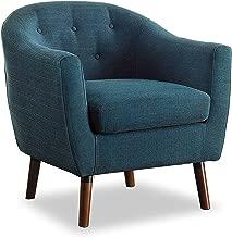 Homelegance Lucille Fabric Barrel Chair, Blue