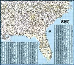Southeastern United States Laminated Wall Map