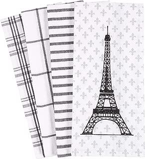 KAF Home Pantry Eiffel Tower Paris Fleur-de-lis Kitchen Dish Towel 18 x 28-inch Set of 4