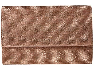 Jessica McClintock Alexis Sparkle Clutch (Rose Gold) Clutch Handbags