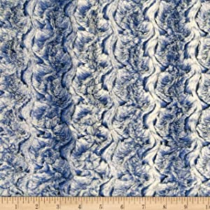 Shannon Fabrics Minky Luxe Cuddle Paloma True Blue Fabric Fabric by the Yard