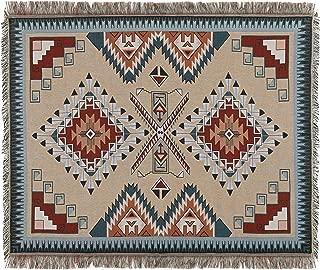 Sonemone Soft Throw Blanket Year Round Aztec Bohemian Home Cozy Couch Sofa Bed Beach Travel 50x60 Brown