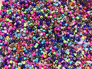 Czech Glass Seed Beads Assorted Mix Colors Size:11/0 50 gr / 1.76 oz