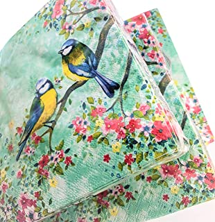 for Decoupage Decor #105-1 13 inches Decoupage Napkins 2 Single  Paper Napkins Paper-Craft and Collage 33 cm