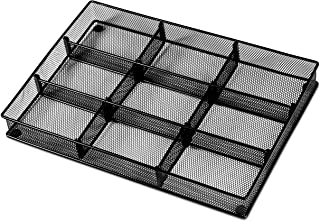 Custom Drawer Organizer Tray – 20 Adjustable Metal Mesh Dividers to Create Custom Storage Sections. Easily Organize Office...
