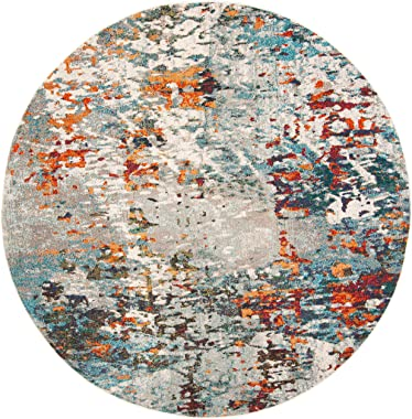 SAFAVIEH Madison Collection MAD471F Modern Abstract Non-Shedding Dining Room Entryway Foyer Living Room Bedroom Area Rug, 5&#