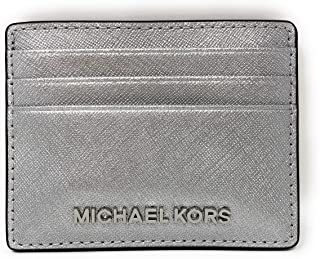 Michael Kors Jet Set Travel Credit Card Holder Case in Silver