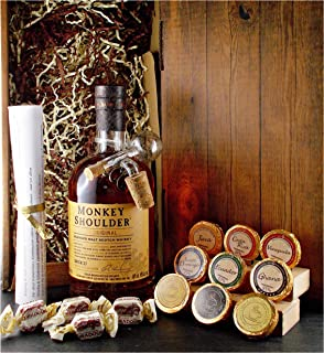 Geschenk Monkey Shoulder Blended Malt Whisky  Glaskugelportionierer  Edelschokolade  Fudge