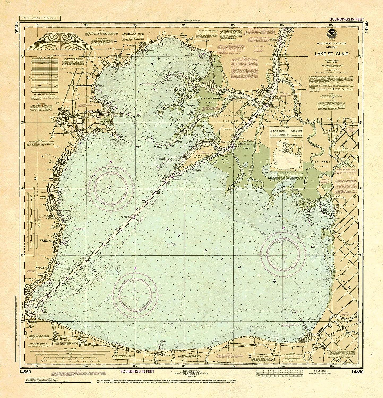 Paradise OFFicial shop Cay Publications NOAA Chart supreme Clair St. 14850: Lake