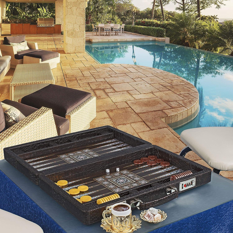 LaModaHome Star Kansas City Mall 27'' Luxury Turkish First Set Class Super sale Backgammon