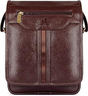 The Clownfish Wizard Series vegan leather Chocolate Messenger Bag