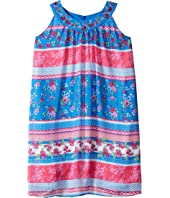 Us Angels - Georgette Sleeveless Print Trapeze Dress (Big Kids)
