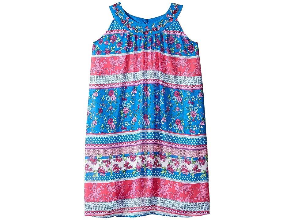 Us Angels Georgette Sleeveless Print Trapeze Dress (Big Kids) (Multi) Girl