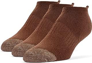 Men's Cotton Extra Soft No Show Cushion Running Socks - 3 Pairs