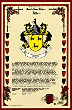 Allen Coat of Arms/Crest and Family Name History, meaning & origin plus Genealogy/Family Tree Research aid to help find clues to ancestry, roots, namesakes and ancestors plus many other surnames at the Historical Research Center Store