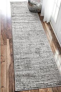 """nuLOOM Ripple Contemporary Sherill Runner Rug, 2' 6"""" x 12', Grey, Gray"""