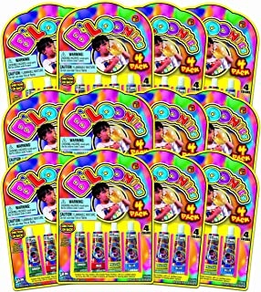 JA-RU B'loonies Plastic Balloon Variety 4 (48 Tubes in 12 Packs) Great Original Bloonies Bubble Making. Plus 1 Bouncy Ball 771-12A